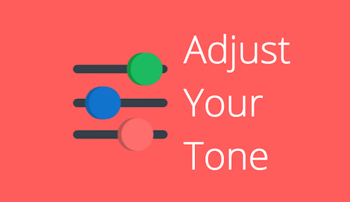 how to manage tone of voice