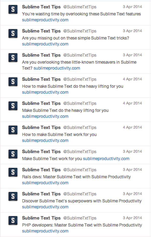 sublime text tips