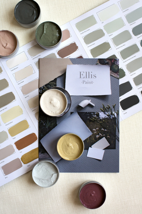 We pioneered hand painted colour cards when we launched Ellis Paint